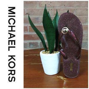 Michael Kors   NWT Rose Gold Chunky Flip Flops
